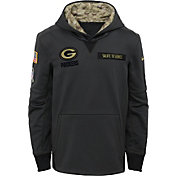 Nike Youth Green Bay Packers Salute to Service 2016 Anthracite Pullover Hoodie