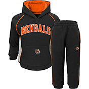 NFL Team Apparel Infant Cincinnati Bengals Lil Fan Black Fleece Set