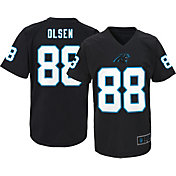 NFL Team Apparel Youth Carolina Panthers Greg Olsen #88 Black T-Shirt
