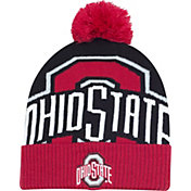OSU Youth Ohio State Buckeyes Scarlet/Black Double Stack Knit Beanie