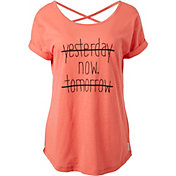 Reebok Women's Open Back Yesterday Graphic T-Shirt