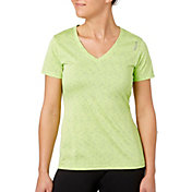 Reebok Women's V-Neck Blip Melange Performance T-Shirt