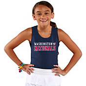 Soft As A Grape Youth Girls' Washington Nationals Navy Tank Top