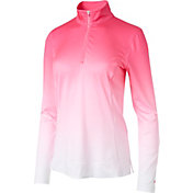 Slazenger Women's Tech Collection Ombre Quarter-Zip Golf Pullover