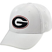 Top of the World Men's Georgia Bulldogs White Premium Collection M-Fit Hat