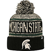 Top of the World Men's Michigan State Spartans Black/White/Green Acid Rain Knit Beanie