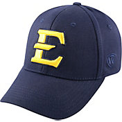 Top of the World Men's East Tennessee State Buccaneers Navy Premium Collection M-Fit Hat