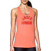 Under Armour Women's Threadborne Train Wordmark Twist Print Tank Top