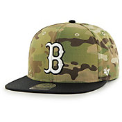 '47 Men's Boston Red Sox Camo Overlord Captain Adjustable Snapback Hat