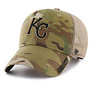 '47 Men's Kansas City Royals Jericho Camo Clean Up Adjustable Hat