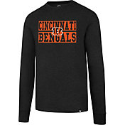 '47 Men's Cincinnati Bengals Club Black Long Sleeve Shirt