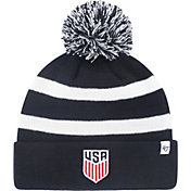'47 Men's USA Crest Navy Pom Knit Beanie