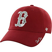'47 Women's Boston Red Sox Sparkle Clean Up Red Adjustable Hat