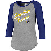 '47 Women's Golden State Warriors Club Grey/Royal Three-Quarter Sleeve Shirt