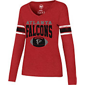 '47 Women's Atlanta Falcons Club Stripe Red Long Sleeve Shirt