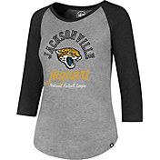 '47 Women's Jacksonville Jaguars Club Grey Raglan T-Shirt