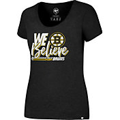 '47 Women's 2017 NHL Stanley Cup Playoffs Boston Bruins Black T-Shirt