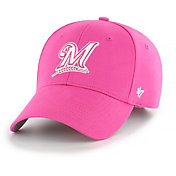 '47 Youth Girls' Milwaukee Brewers Basic Pink Adjustable Hat