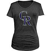5th & Ocean Women's Colorado Rockies Black Tri-Blend V-Neck Shirt
