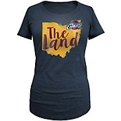 5th & Ocean Women's Cleveland Cavaliers Tri-Blend Navy T-Shirt