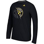 adidas Men's Columbus Crew Uncovered Ultimate Black Long Sleeve T-Shirt