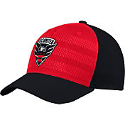 adidas Men's D.C. United Authentic Structured Black/Red Flexfit Hat