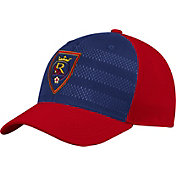 adidas Men's Real Salt Lake Authentic Structured Maroon/Navy Flexfit Hat