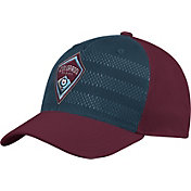 adidas Men's Colorado Rapids Authentic Structured Maroon/Green Flexfit Hat