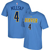 adidas Men's Denver Nuggets Paul Millsap #4 Light Blue T-Shirt