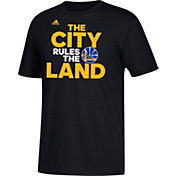 "adidas Men's Golden State Warriors ""The City Rules The Land"" Black T-Shirt"