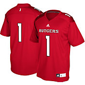adidas Men's Rutgers Scarlet Knights #1 Scarlet Replica Football Jersey