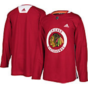 adidas Men's Chicago Blackhawks   Authentic Pro Red Practice Jersey