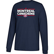 adidas Men's Montreal Canadiens Dassler Navy Long Sleeve Shirt