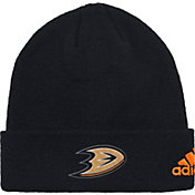 adidas Men's Anaheim Ducks Basic Black Knit Beanie