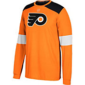 adidas Men's Philadelphia Flyers Jersey Orange Long Sleeve Shirt