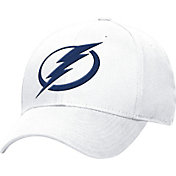 adidas Men's Tampa Bay Lightning Logo Alternate Colored Basic Structured White Flex Hat