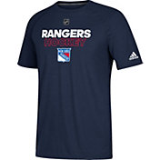 adidas Men's New York Rangers Authentic Ice Ultimate Navy Performance T-Shirt
