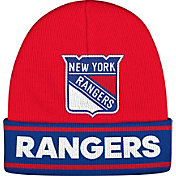 adidas Men's New York Rangers Logo Red Knit Beanie