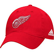 adidas Men's Detroit Red Wings Basic Red Slouch Adjustable Hat