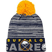 adidas Men's Buffalo Sabres Locker Room Navy Pom Knit Beanie