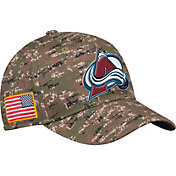 adidas Men's Colorado Avalanche Locker Room Camo Structured Fitted Flex Hat