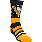 adidas Pittsburgh Penguins Team Color Stripe Crew Socks