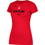 "adidas Women's Houston Rockets 2017 NBA Playoffs ""Run As One"" Red T-Shirt"