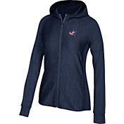 adidas Women's Columbus Blue Jackets Logo Navy Full-Zip Hoodie