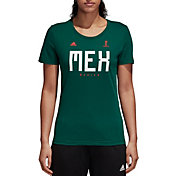 adidas Women's 2018 FIFA World Cup Mexico Crest Green T-Shirt