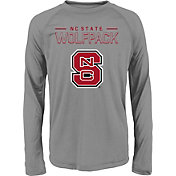 adidas Youth NC State Wolfpack Long Sleeve Grey T-Shirt