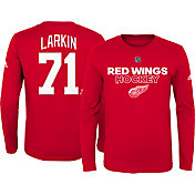 adidas Youth Detroit Red Wings Dylan Larkin #71 Red Long Sleeve Shirt
