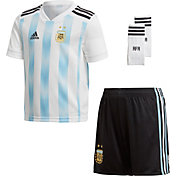 adidas Toddler Argentina Replica Home White Stadium Jersey Set