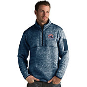 Antigua Men's Washington Wizards Fortune Navy Half-Zip Pullover