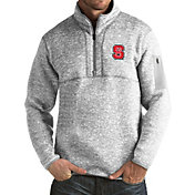 Antigua Men's NC State Wolfpack Grey Fortune Pullover Jacket